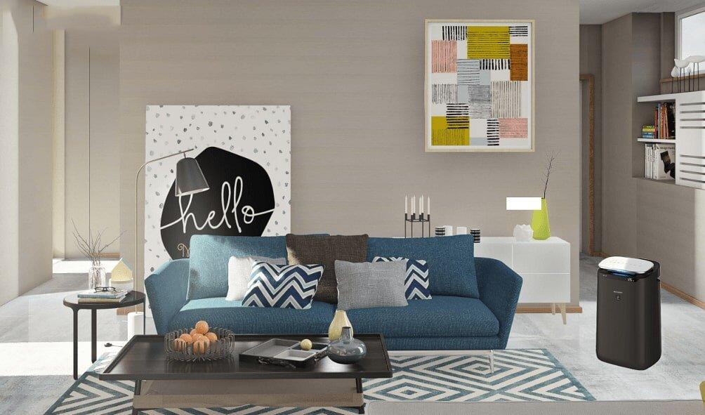 Sản phẩm nhỏ gọn, hài hòa trong không gian phòng khách