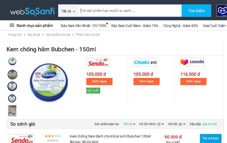 Kem chống hăm Bepanthen Đức 5% 100g - Giá rẻ nhất: 71.000 vnđ