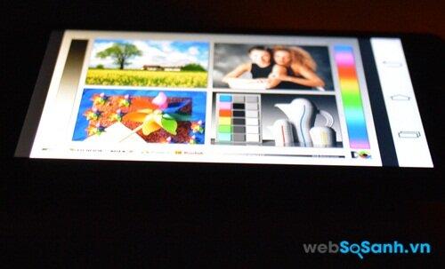 Bù lại với công nghệ IPS LCD màn hình L Fino có góc nhìn rộng
