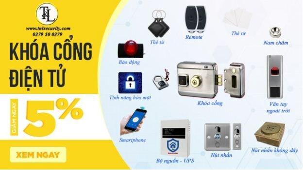 Giảm ngay 5% trên tổng đơn hàng khi mua bất kỳ bộ khóa điện tử thông minh nào tại tnlsecurity.com