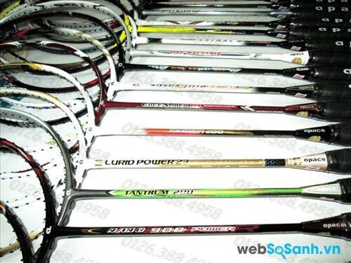 Chọn chiếc vợt cầu lông tốt nhất cần khá nhiều yếu tố