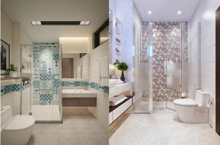 Sử dụng giấy dán tường để trang trí nội thất nhà tắm đẹp