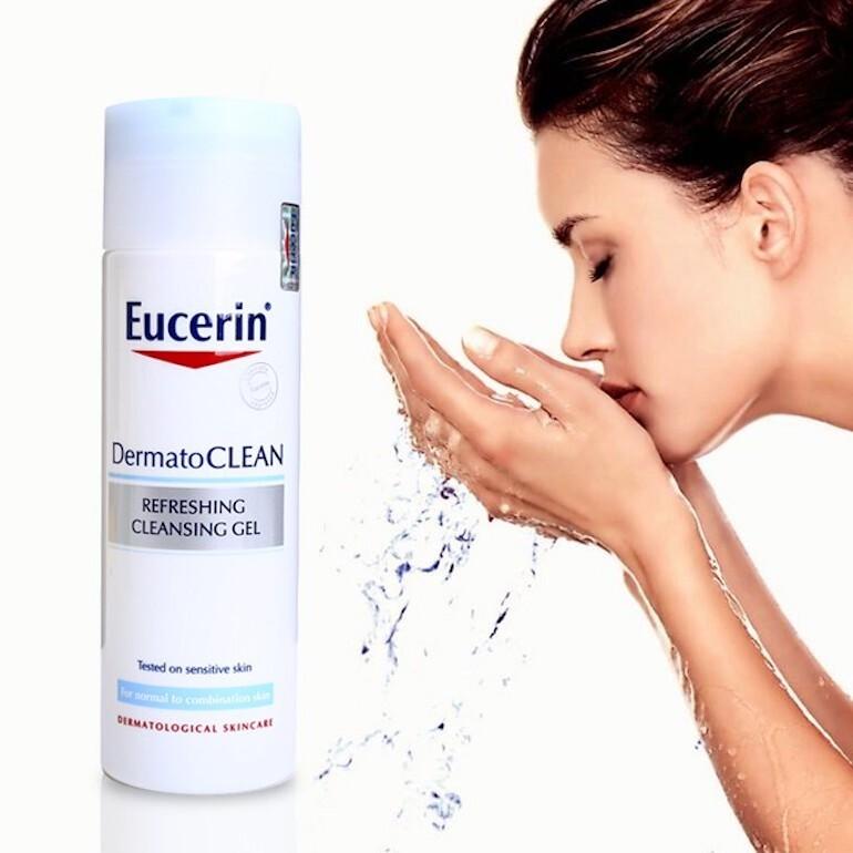 Sữa rửa mặt Đức Eucerin Dermatoclean Refreshing Cleansing Gel