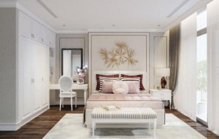 Ý tưởng thiết kế nội thất phòng ngủ tân cổ điển
