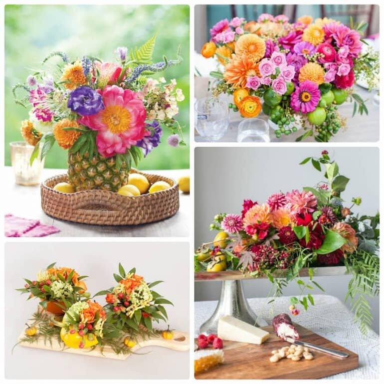 Cắm hoa và quả