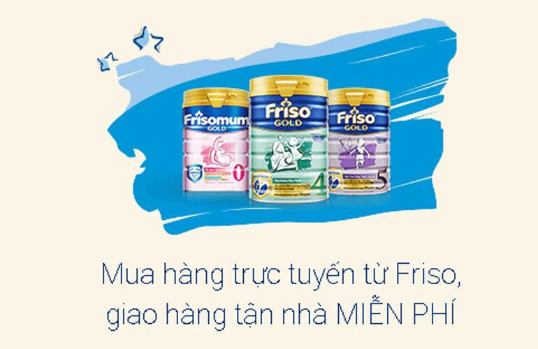 Miễn phí vận chuyển cho đơn sữa bột Friso từ 500.000 vnđ