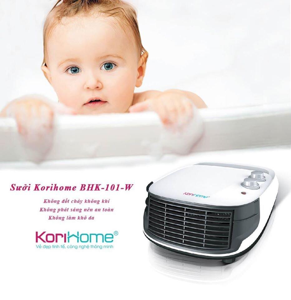 Sưởi Korihome thiết kế tinh tế, an toàn cho trẻ nhỏ