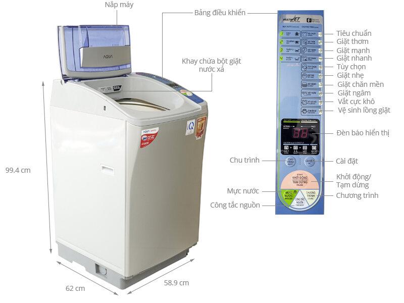 Máy giặt Aqua AQW-F800Z2T(S)