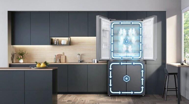 Tủ lạnh Samsung RF48A4010B4/S là tủ lạnh 2 dàn lạnh độc lập Twin Cooling Plus