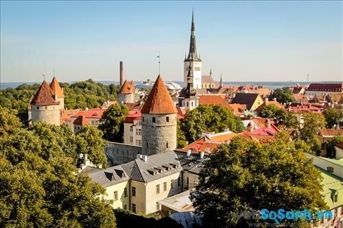 Toàn cảnh Tallinn nhìn từ trên cao