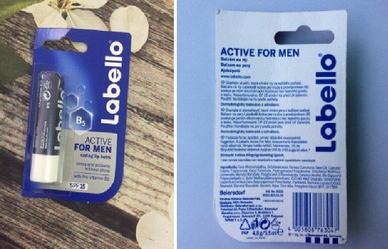 Về thiết kế, bao bì son dưỡng Labello Active For Men