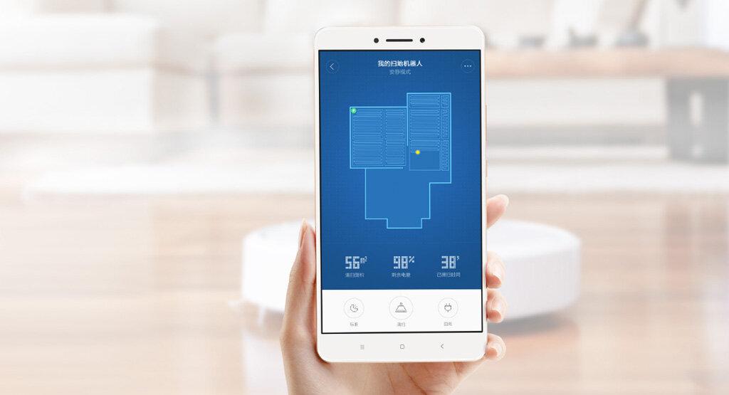 Robot hút bụi Xiaomi Gen 2 có thể điều khiển trên smartphone dễ dàng