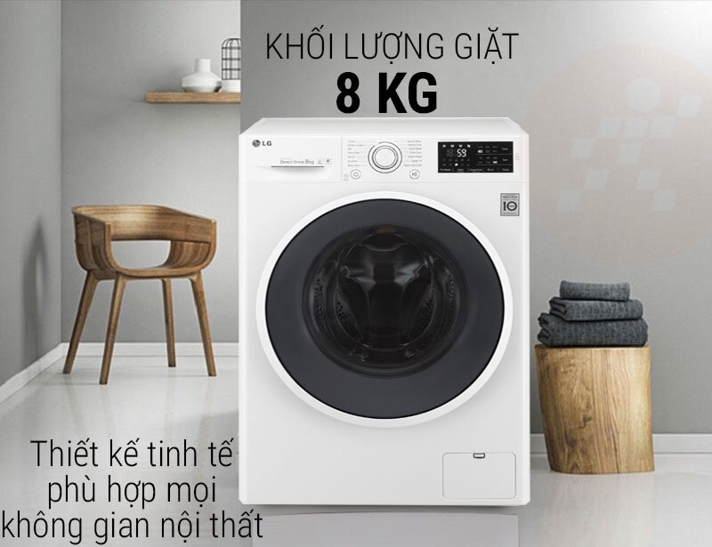 Thiết kế máy giặt LG FC1408S4W1 giống với LG FC1408S4W2