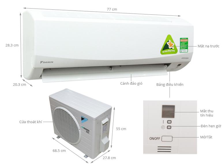 Điều hòa đaikin 12000 1 chiều inverter FTKC35NVMV