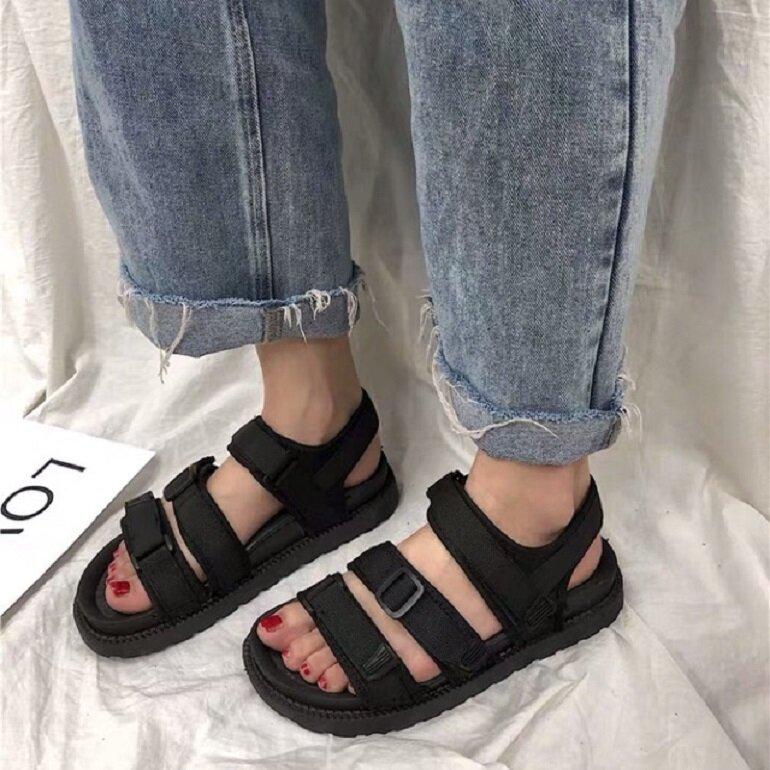 sandal nữ 2019 màu đen