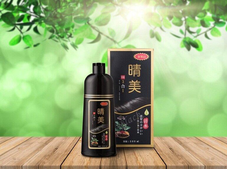 Dầu gội thảo dược đen tóc Nhật Bản Komi