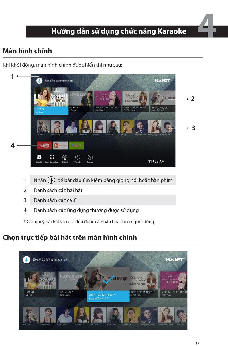 Hướng dẫn cách sử dụng đầu Karaoke Hanet