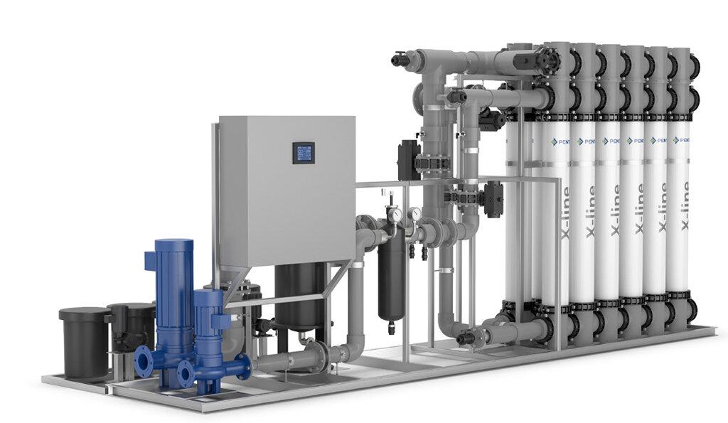 Mô hình của công nghệ lọc nước UF