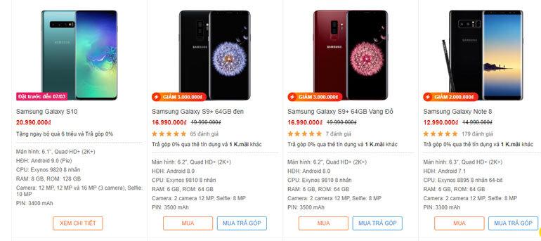 smartphone giảm giá
