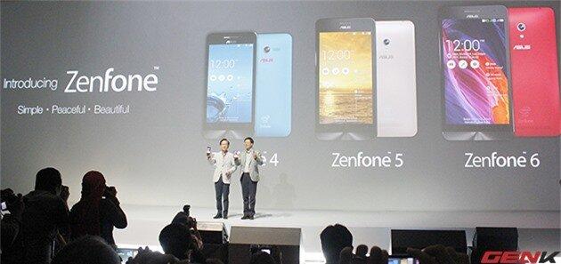 ASUS Zenfone 4, 5, 6 giá lần lượt tại Việt Nam 2, 4 và 6 triệu đồng