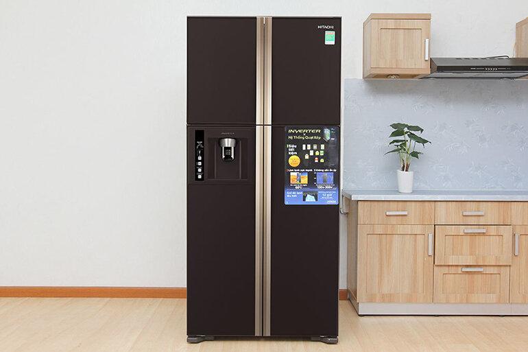 Tủ lạnh hitachi 4 cửa với thiết kế thời thượng.