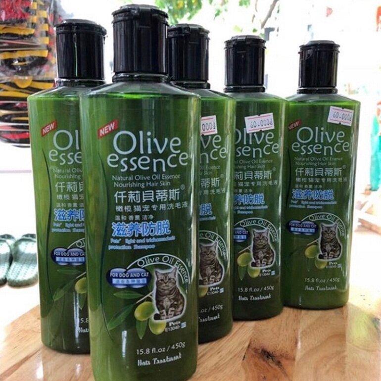 Sữa tắm Olive cho mèo hiện chỉ có 1 loại duy nhất với chai có in hình con mèo