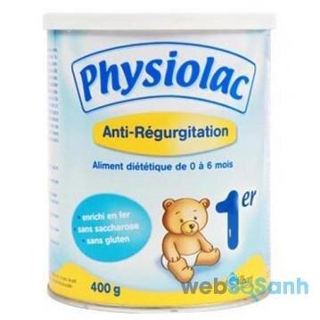Sữa công thức Physiolac của Pháp cũng rất tốt cho các bé sinh mổ