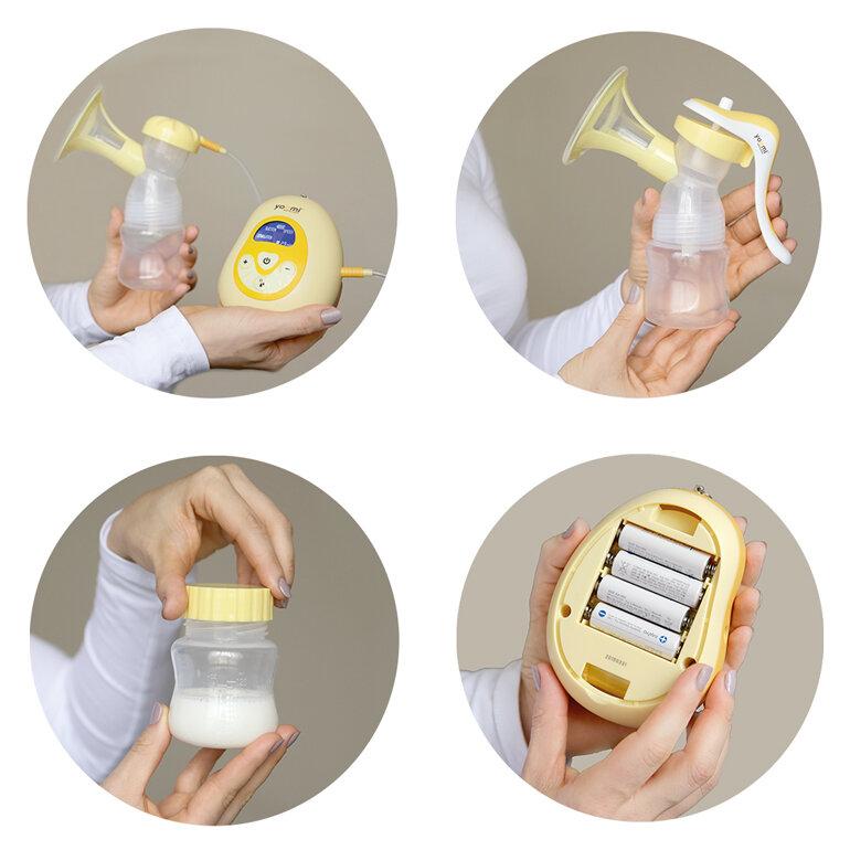 Máy hút sữa điện Yoomi với thiết kế nhỏ gọn