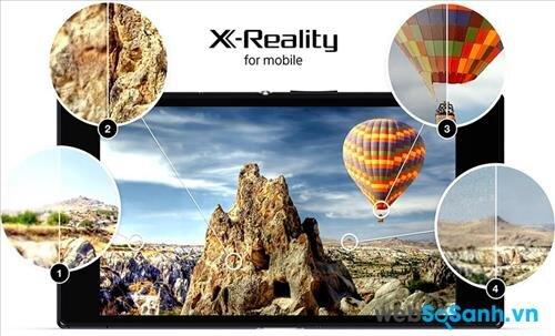 Màn hình của Xperia Z2a hiển thị xuất sắc hơn nhờ sử dụng cộng nghệ X-Reality