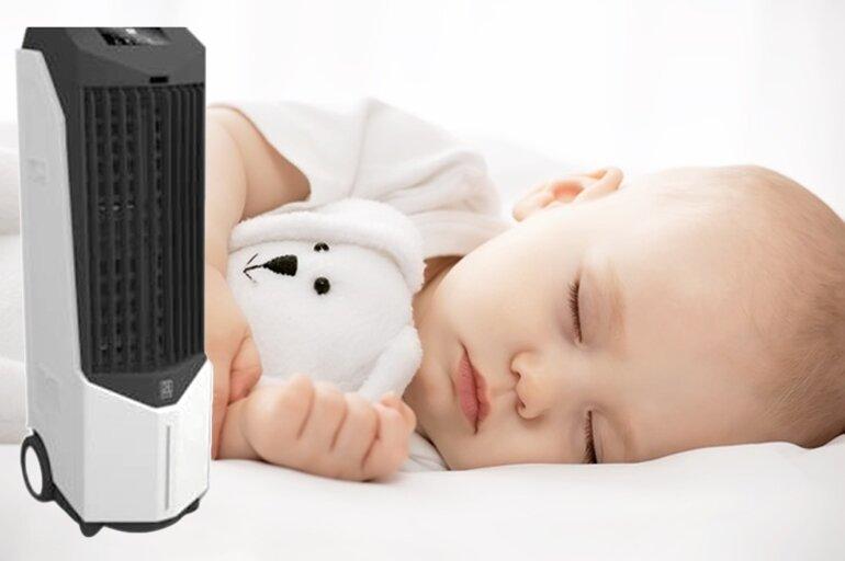 sử dụng quạt điều hòa cho trẻ sơ sinh