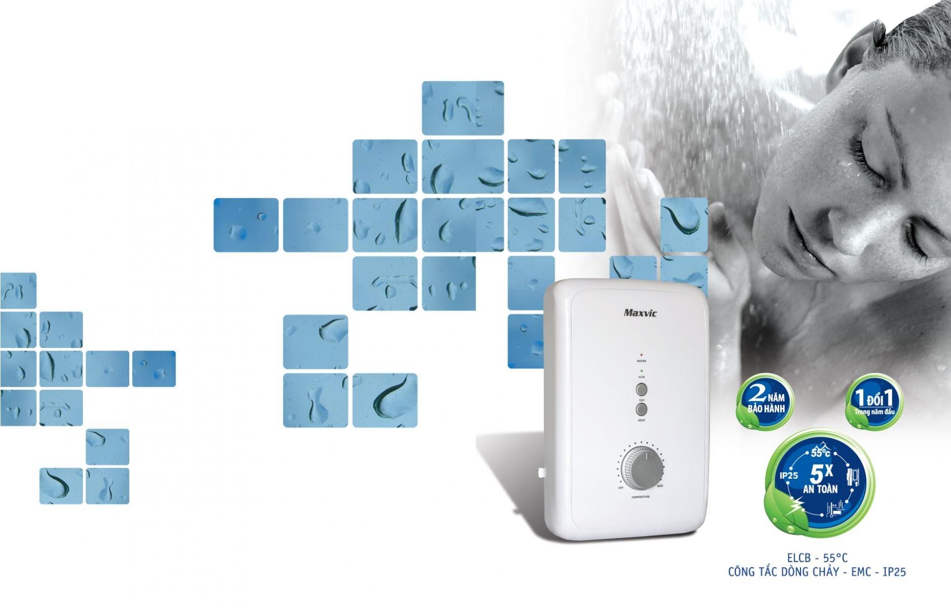 Máy nước nóng trực tiếp cung cấp chế độ tự ngắt an toàn