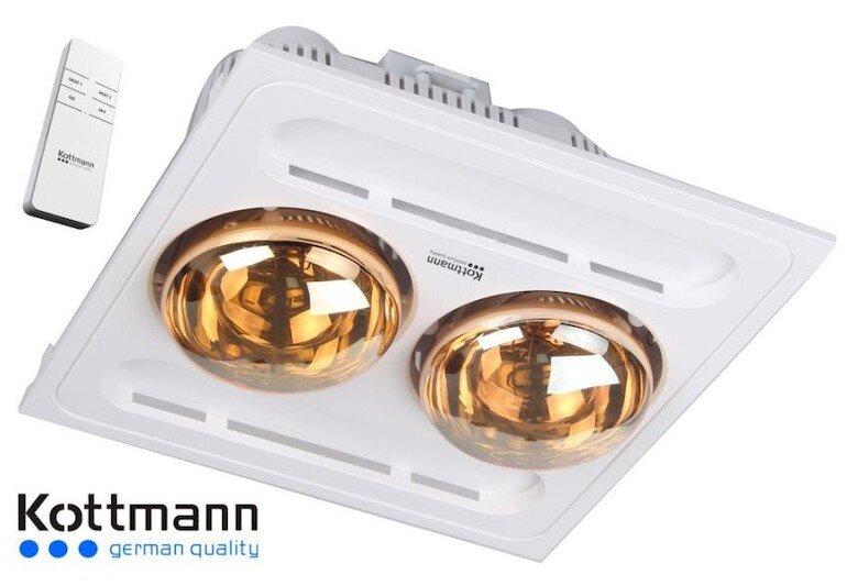 Đèn sưởi âm trần 2 bóng Kottmann K9R (có điều khiển từ xa)