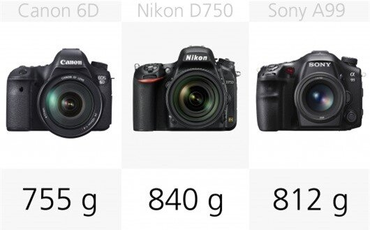 The Canon 6D is the lightest full frame DSLR in out round-up