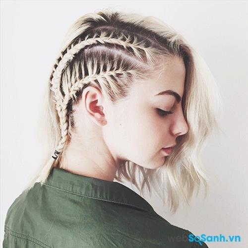 Cô gái có mái tóc tết như này chắc chắn phải rất cá tính và