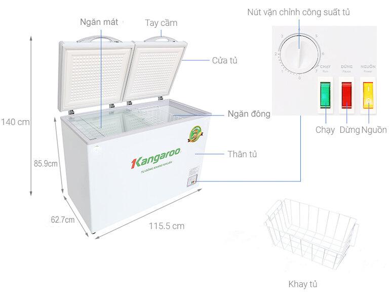 Tủ đông 400 lít Kangaroo KG400NC2