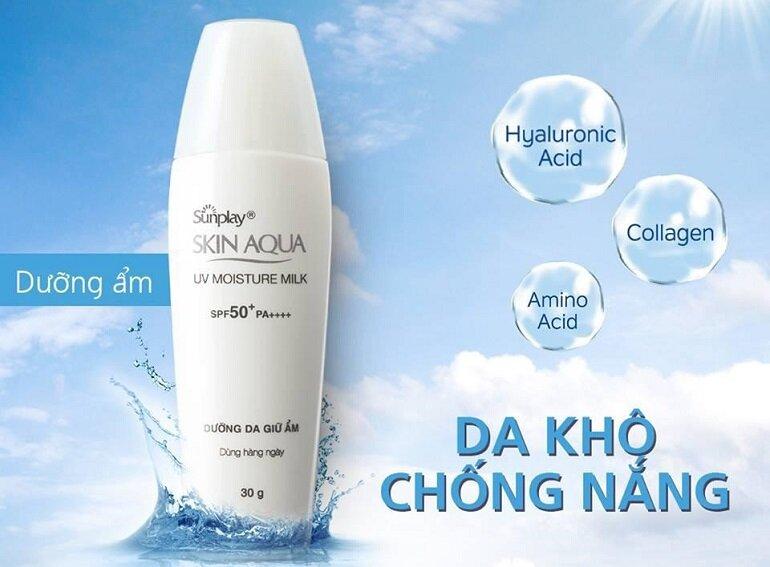 Kem chống nắng tốt Sunplay Skin Aqua UV Moisture Milk