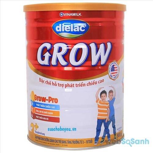 Sữa bột Dielac Grow 3+ của Vinamilk là một trong những sản phẩm dành cho bé trên 3 tuổi được đánh giá cao