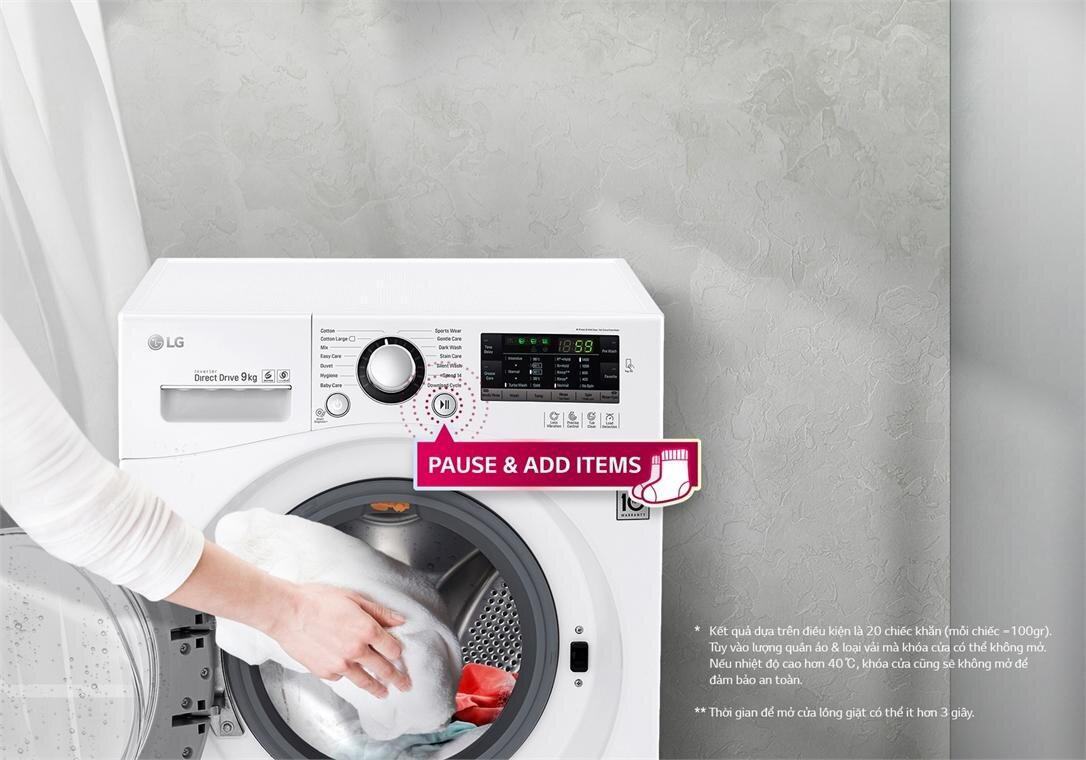 Máy giặt sấy 2 trong 1 LG Inverter 9kg FC1409D4E