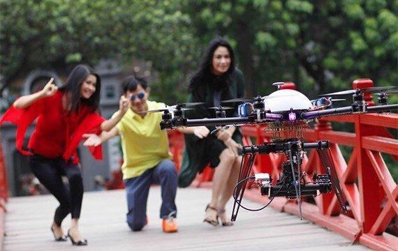 Hiện tại ở Việt Nam flycam đang khá phổ biến