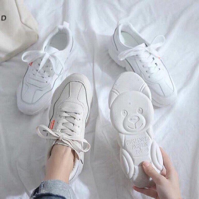 giày thể thao nữ màu trắng hàn quốc