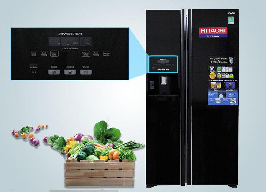 Bảng điều khiển cảm ứng của tủ lạnh Hitachi