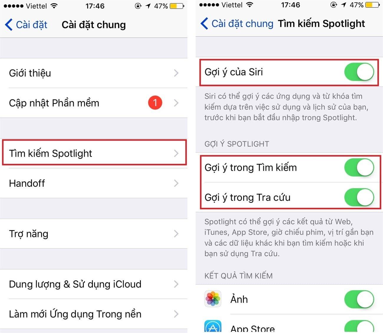Tắt Siri trên iOS 10