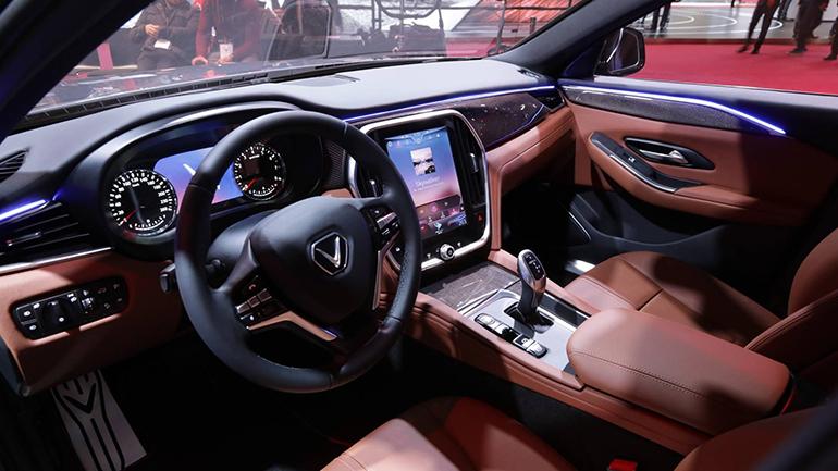 Nội thất vô cùng sang trọng của VinFast Sedan LUX A2.0