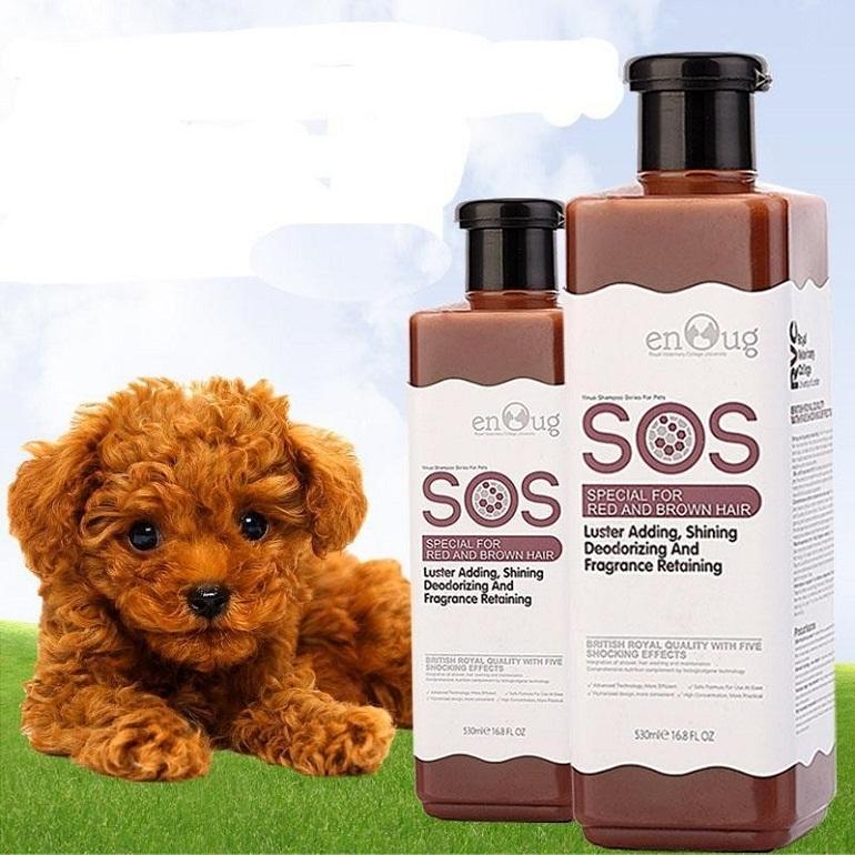Sữa tắm cho chó Poodle nâu - SOS Red & Brown