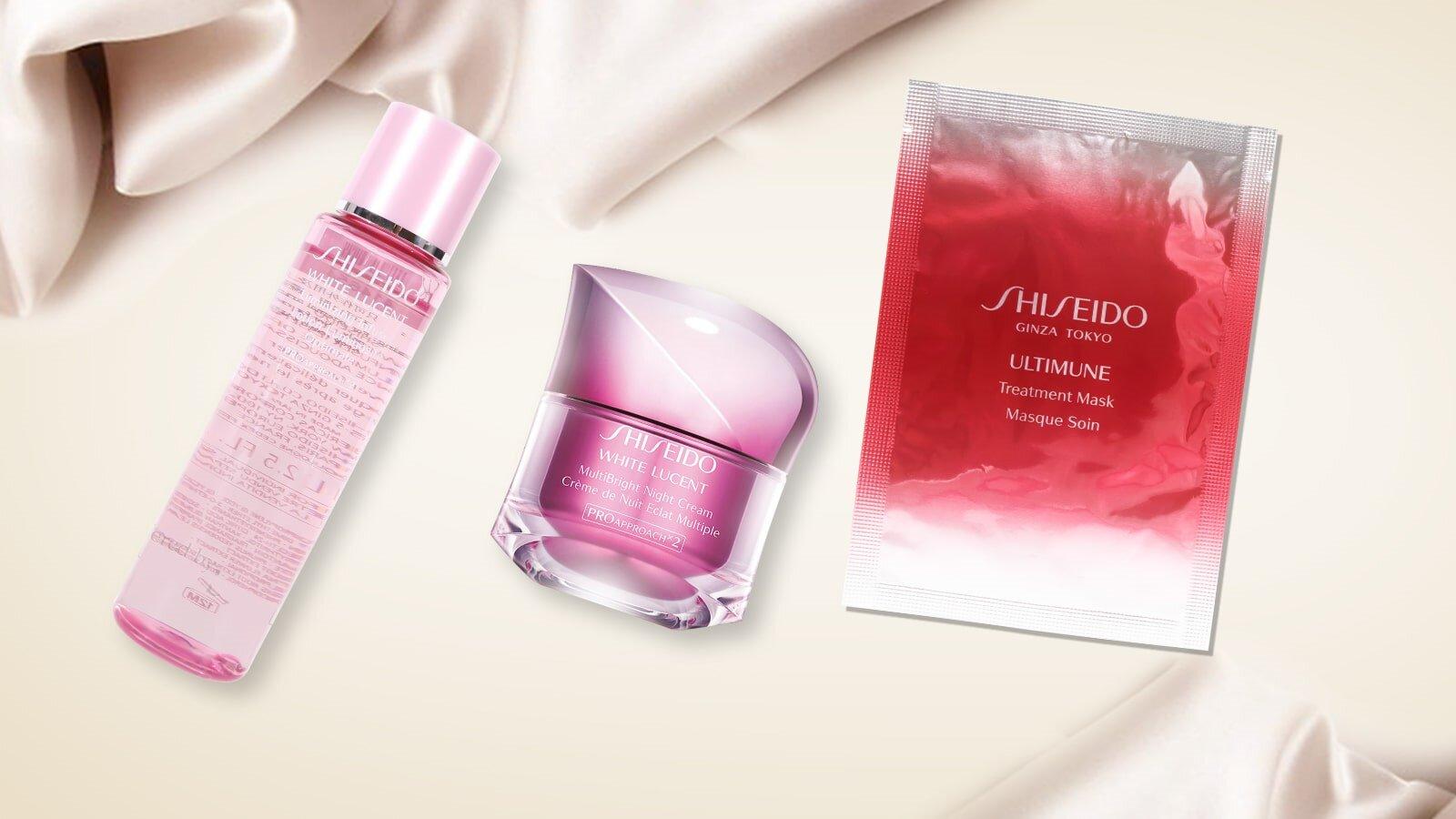 Bộ sản phẩm dưỡng trắng ban đêm Shiseido White Lucent Multibright night cream