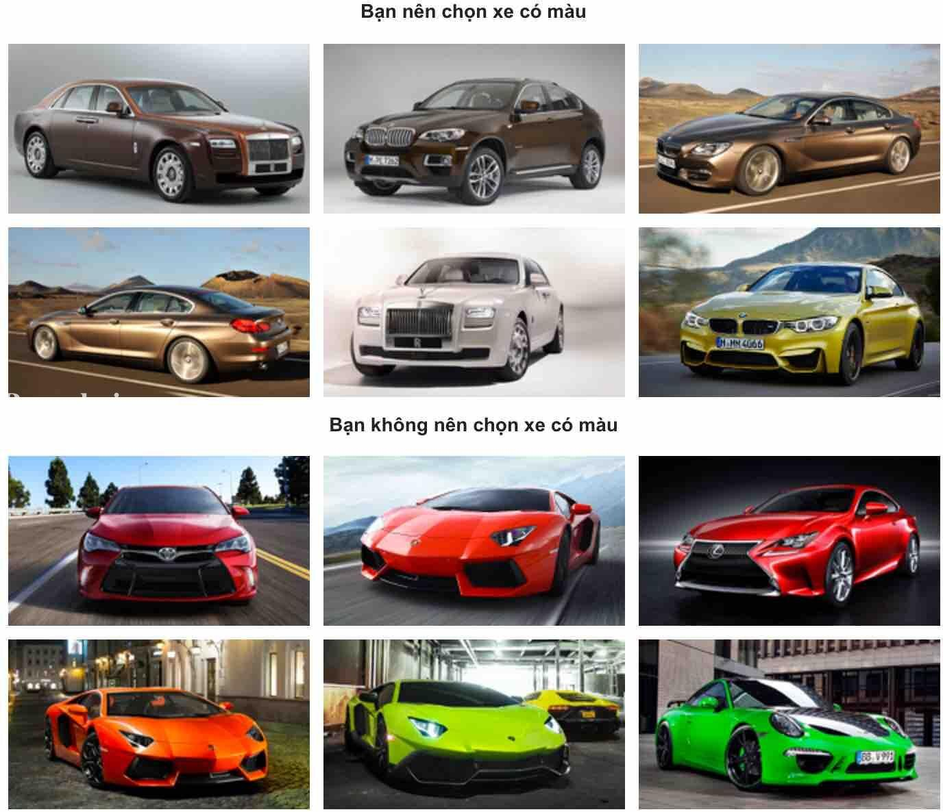 Người mệnh Kim nên mua xe màu gì và tránh màu gì?