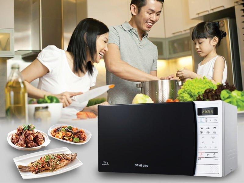 Hướng dẫn sử dụng lò vi sóng Samsung mang đến những bữa cơm ngon đầm ấm cho gia đình