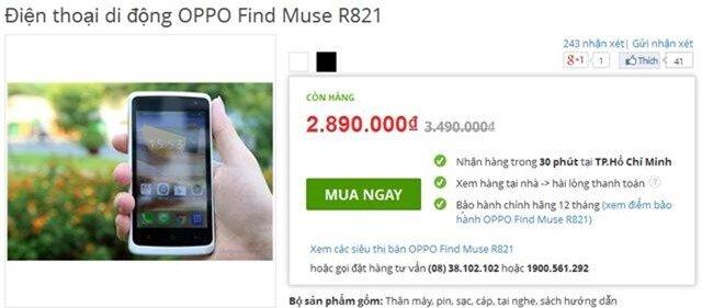 Oppo Find Muse vừa giảm giá mạnh