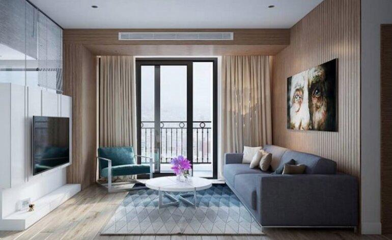Nội thất phòng khách chung cư phong cách hiện đại tiết kiệm diện tích cho gia chủ
