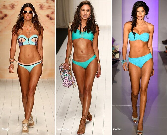 Spring/ Summer 2016 Swimwear Trends: Turquoise Swimsuits